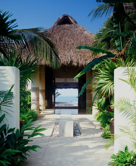 Entrance into Casa Aramara owned by Joe Francis...designed by Martyn Lawrence Bullard