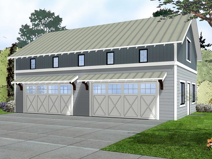 74 best 4 car garage plans images on pinterest car for Four car garage with apartment