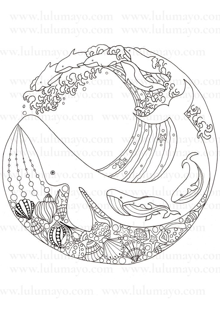 Humpback Whale Coloring Page Mammals In 2020 Whale Coloring Pages Mandala Coloring Coloring Pages