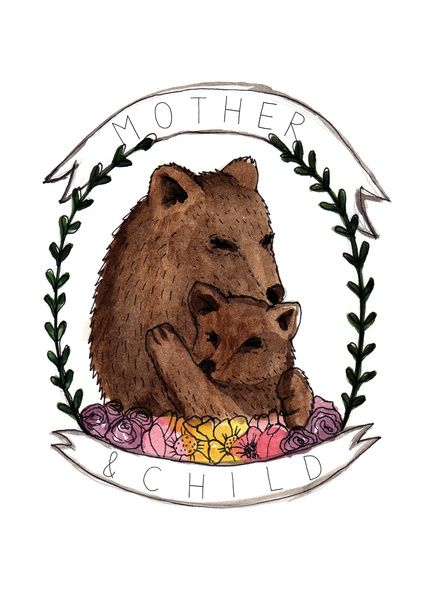 Mother&Child Art Print by Dorc | Society6