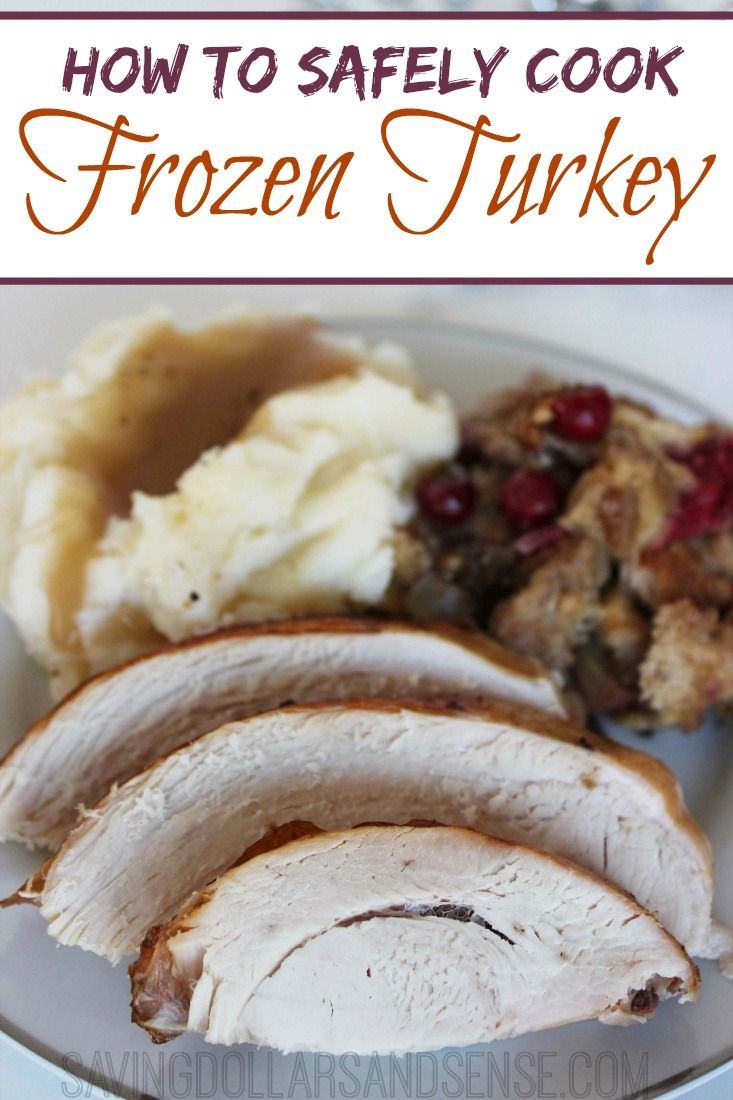 Have you ever found that your turkey was still frozen when you tried to cook it?  Did you know that is actually okay to cook a frozen turkey? Here is HOW TO SAFELY COOK A FROZEN TURKEY, in case you need it this year.