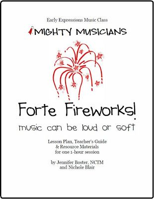 The Teaching Studio | Forte Fireworks! Mighty Musicians Lesson Plan - Piano Classes for Young Children