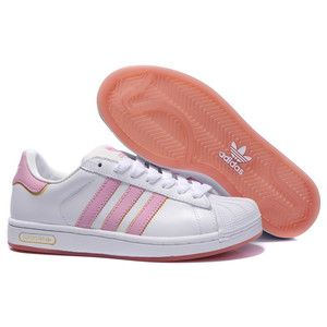 Women Official Adidas Superstar 2.5 Shoes White Pink Specials .