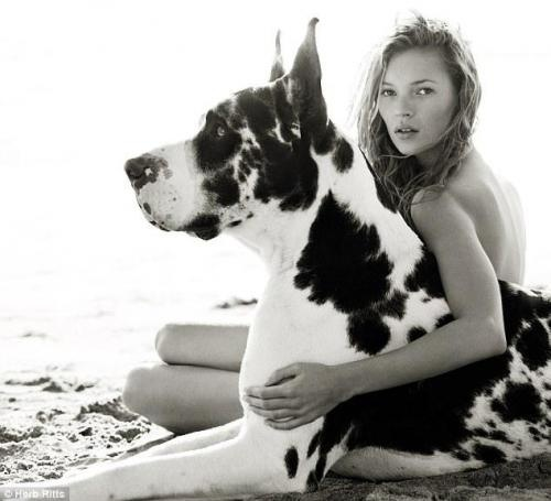 Kate Moss shot by Herb Ritts