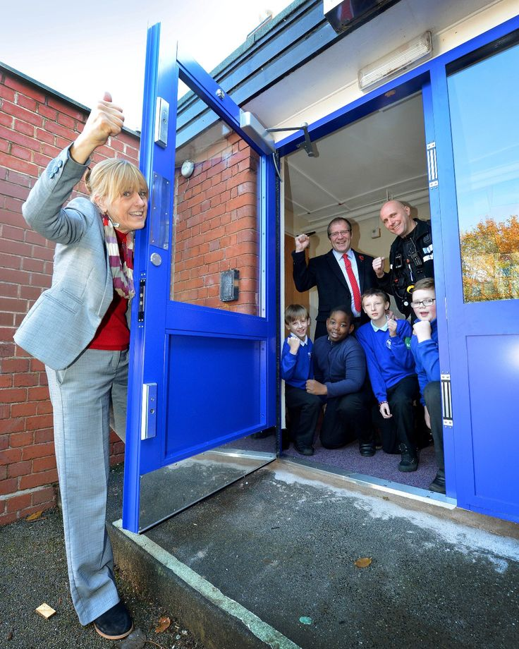 Chasetown Community School safer, thanks to Warrior Doors' donation