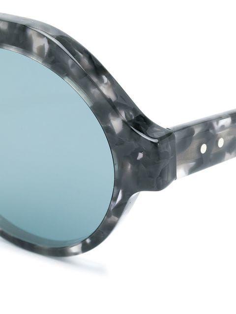615cd05699db Thom Browne Eyewear Tortoiseshell Top Bar Round Frame Sunglasses ...