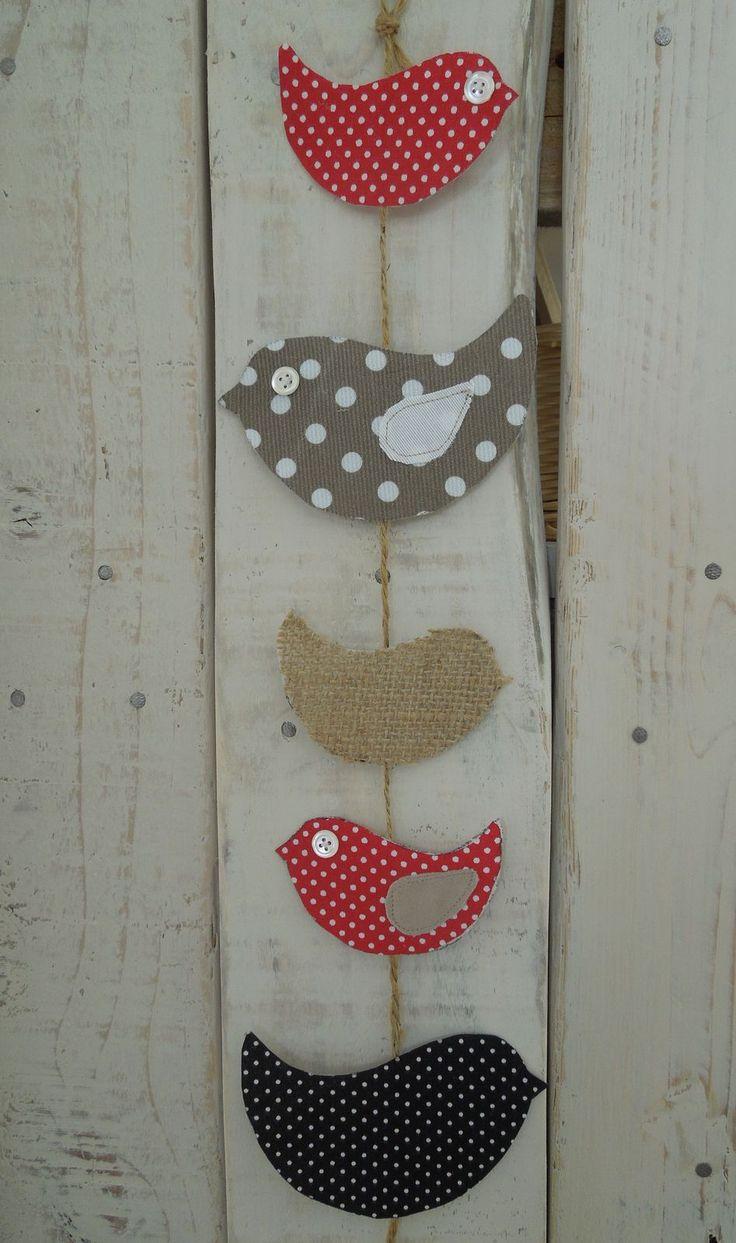 Guirlande oiseaux en tissu