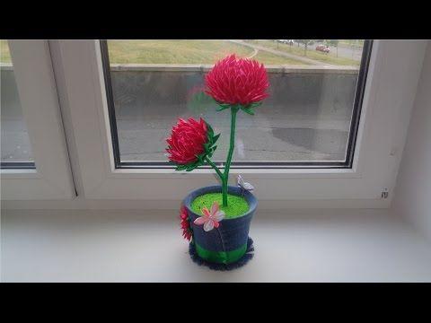 Мобильный LiveInternet Топиарии из цветов канзаши. Идеи и видео-урок | dikulya67 - МОЙ МИР |