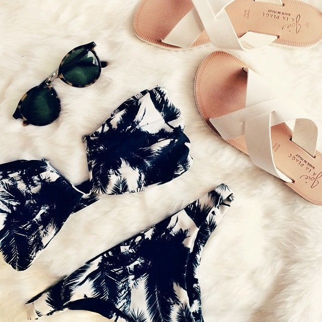 mikoh swimwear + joie sandals