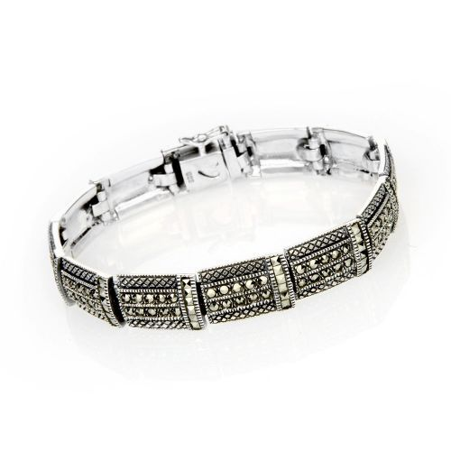 Art Deco Bracelet from Daniels Silver & Marcasite Ltd. Buy from the online gift shop at English Heritage.
