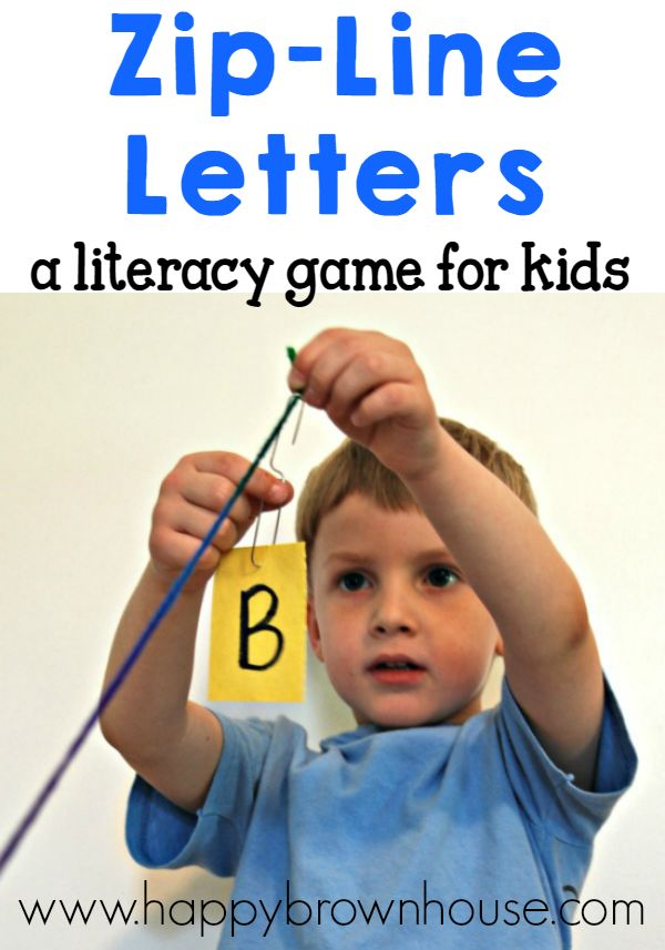 Practice letter sounds in this Zip-Line Letters literacy game for kids from the book 100 Fun & Easy Learning Games for Kids. Perfect for early learners.