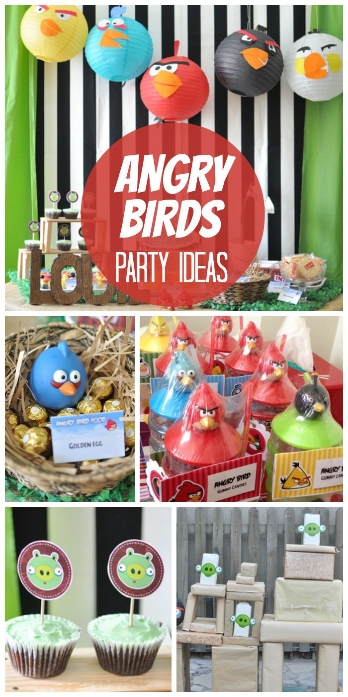 Angry birds and pigs show up at this exciting birthday party!  See more party ideas at CatchMyParty.com!