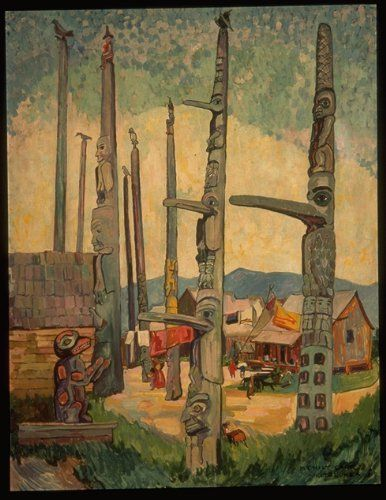 'Totem Poles at Kitsegukla' / Emily Carr / Vancouver Art Gallery / 37.2