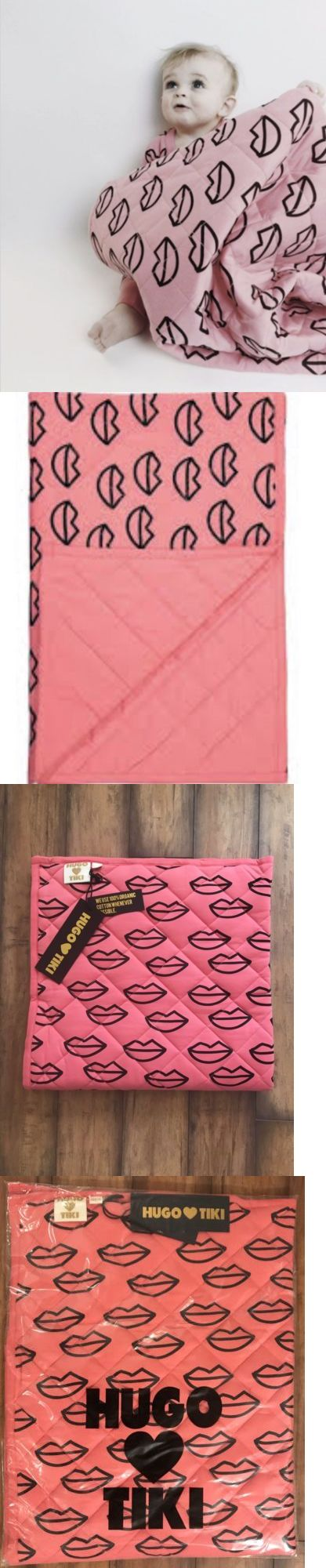 Blankets and Throws 3081: Hugo Loves Tiki Kiss Me Pink Stroller Blanket 36X36 -> BUY IT NOW ONLY: $50 on eBay!