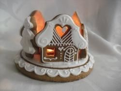 Malý svícen domečky..stromečky..