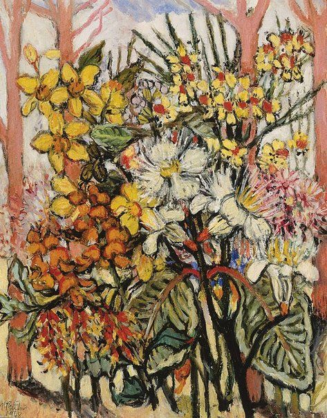 Margaret Preston (Australia, England, France), Flowers and salmon gum trees of the Northern Territory, 1948