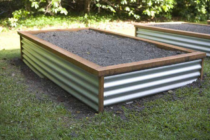 love the corrugated iron raised garden beds pinterest. Black Bedroom Furniture Sets. Home Design Ideas