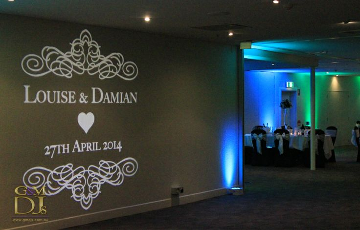 Custom monogram with uplighting at Rydges Southbank in Brisbane | Designed by G&M DJs | Weddings Lighting #gmdjs #magnifiqueweddings #weddinglighting #monogram #weddingdjbrisbane @gmdjs
