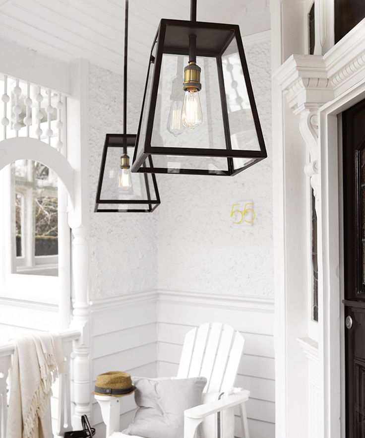 Southampton 1 Light Large Exterior Pendant in Antique Black