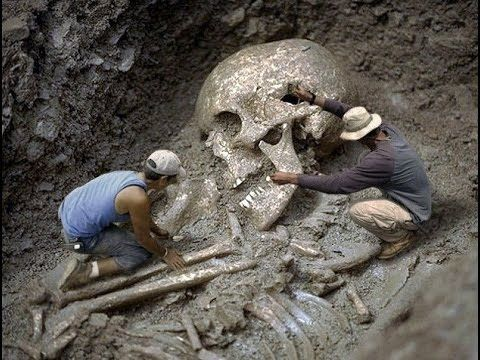 Gigantyczne szkielety ludzkie - ludzie giganty. Cały film dokumentalny l...