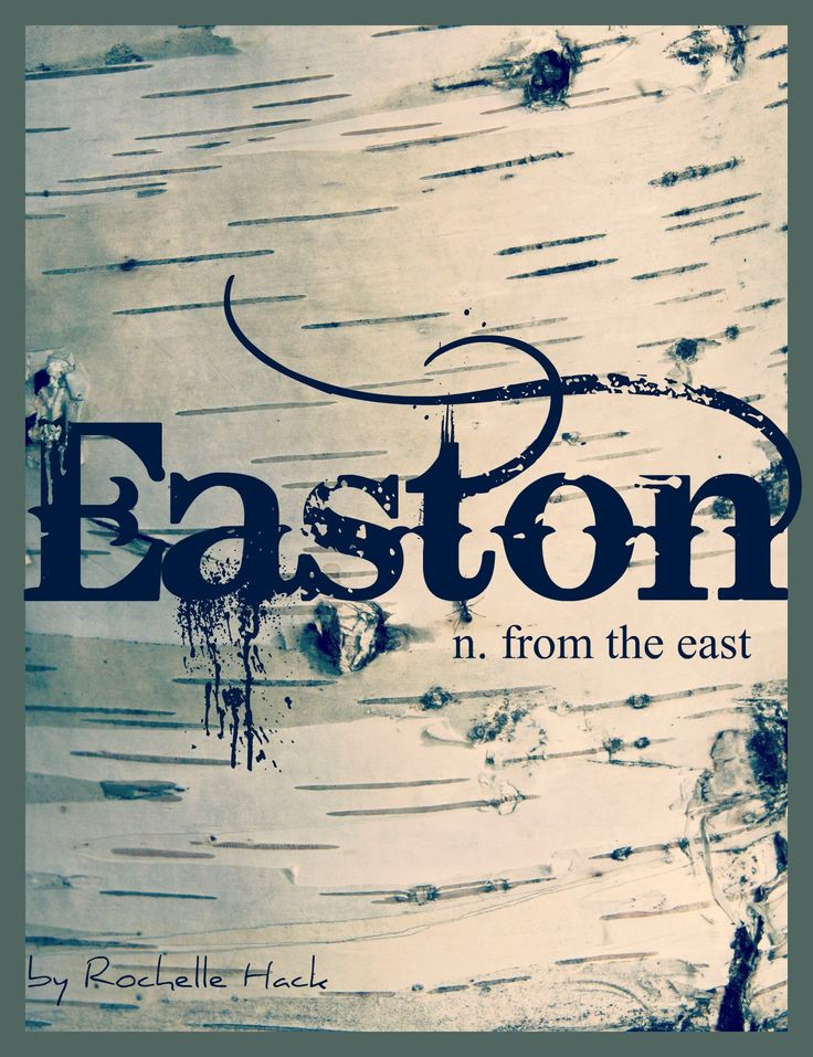 Baby Boy or Girl Name: Easton. Meaning: From the East. Origin: Old English. http://www.pinterest.com/vintagedaydream/baby-names/