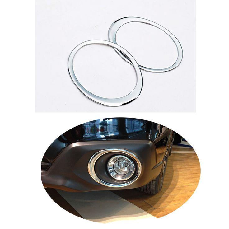 For Subaru Outback 2015 2016 ABS Chrome  Front fog light cover fog lamp trim 2pcs