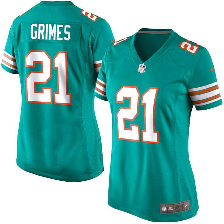Brent Grimes Miami Dolphins Nike Women's Alternate Game Jersey - Aqua - $71.24