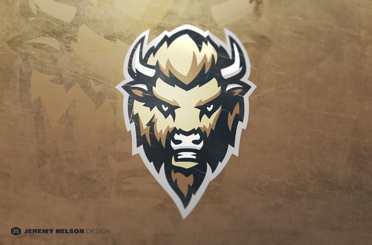 Personal project of a sports style Buffalo mascot.  Feedback appreciated as always.