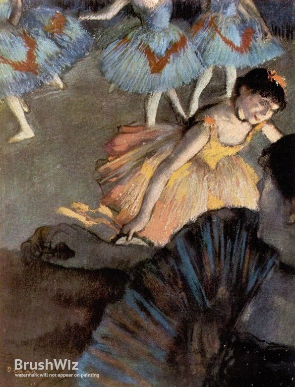 A Ballet Seen From The Opera Box by Edgar Degas - Oil Painting Reproduction - BrushWiz.com