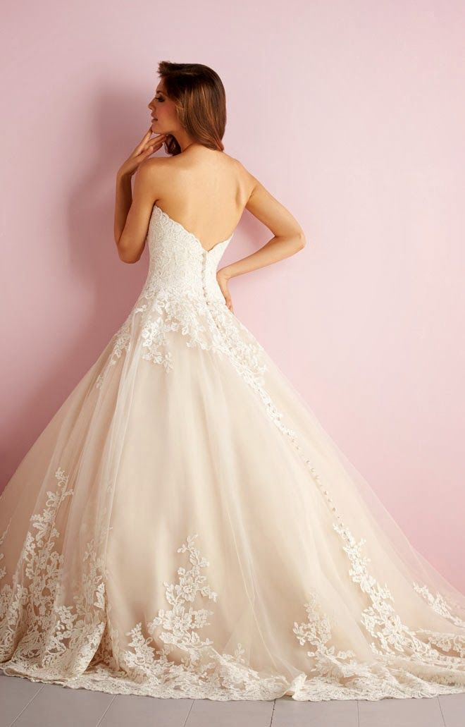 Modern day Cinderella ~ Allure Romance Spring 2014 Bridal Collection | bellethemagazine.com