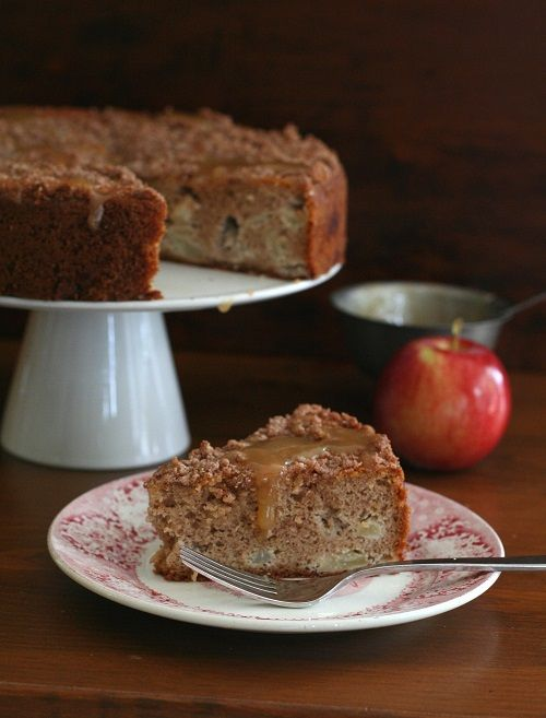 Caramel Apple Coffee Cake - low carb - (One medium apple is 19 carbs) However, this recipe makes the Net Carb count 4 carbs per serving!