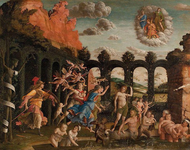 Andrea Mantegna, Minerva che scaccia i Vizi dal Giardino delle Virtù (1497-1502, tempera su tavola, Parigi, Musée du Louvre, photo credits: www.palazzodiamanti.it)