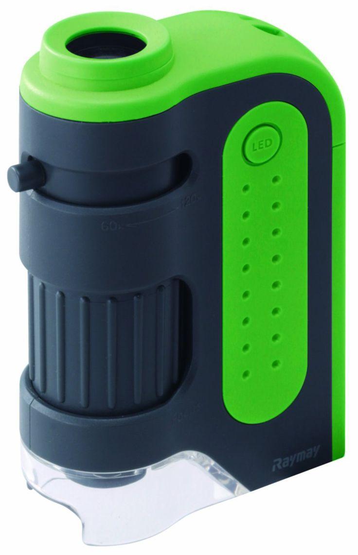 レイメイ藤井UV付 顕微鏡 ハンディ ZOOM グリーン RXT203M