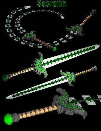 Scorpion whip sword