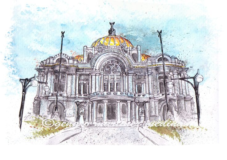 Palacio de Bellas Artes Mexico, DF By Genaro Martinez Medina