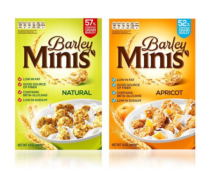 Barley minis cereals #packaging