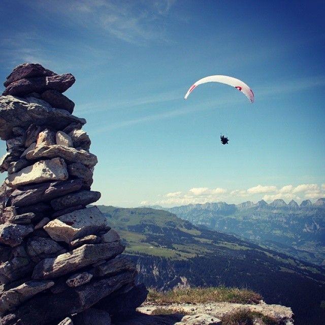 Cairn in the #Gamidaurspitz summit in the #Heidiland Holiday Region. More on www.instagram.com/swissheidiland