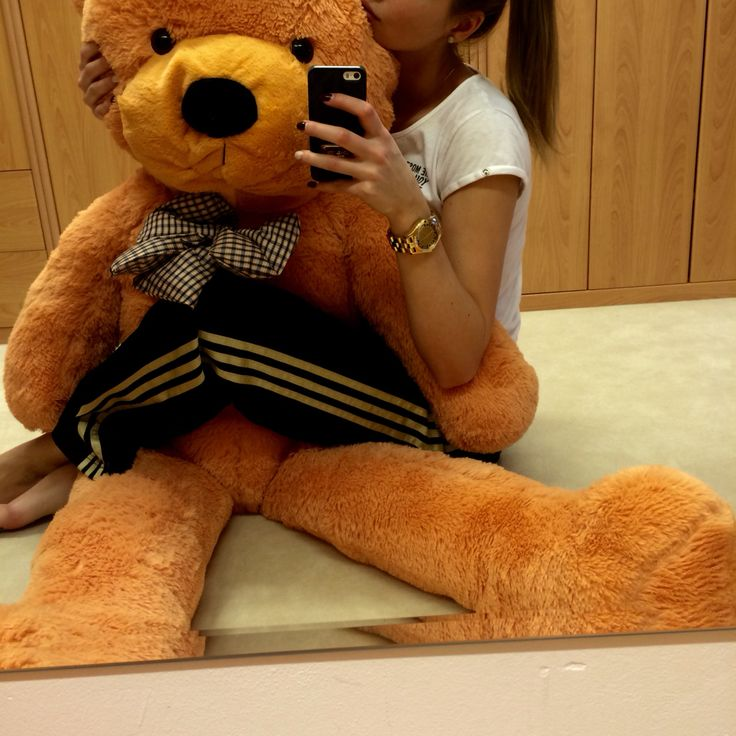Teddy bear big, from my boyfriend, ginger, me, girl, hair, adidas marc jacobs watch love thank u bronze sport fashion clothes ootd like animal girl nice
