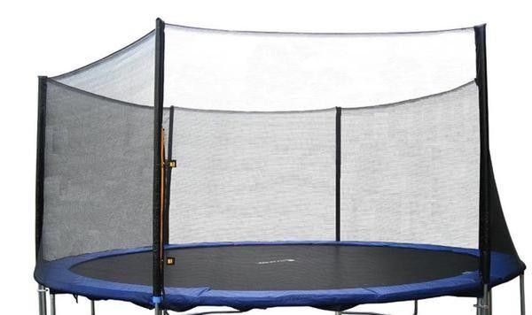 "120"" Round Trampoline Safety Net Using 8 Poles"