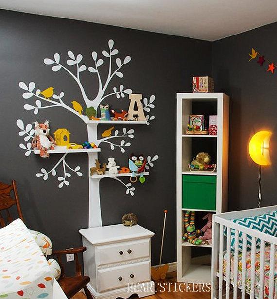 gift shelving tree --------Vinyl Wall Decals,wall stickers,Wall murals, nature decals ,tree decal Decors,wall art. $79.00, via Etsy.