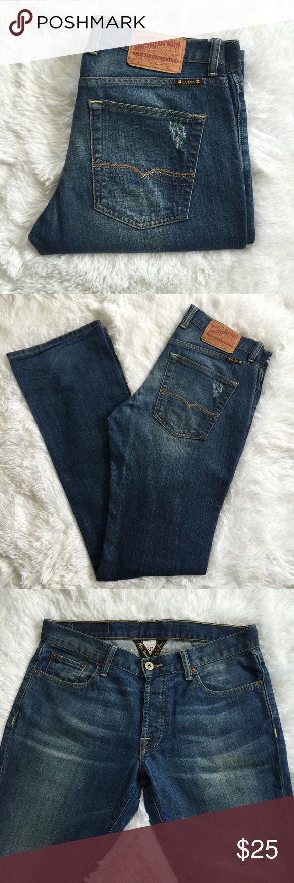 "Mens Lucky Brand Jeans Lucky Brand Bootcut Jeans / Long Inseam 35"" / Slim Bootleg / Good Condition Lucky Brand Jeans Straight"