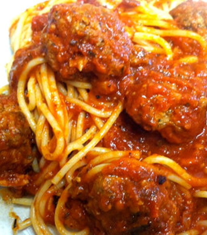 My Mother's Meatballs and Spaghetti