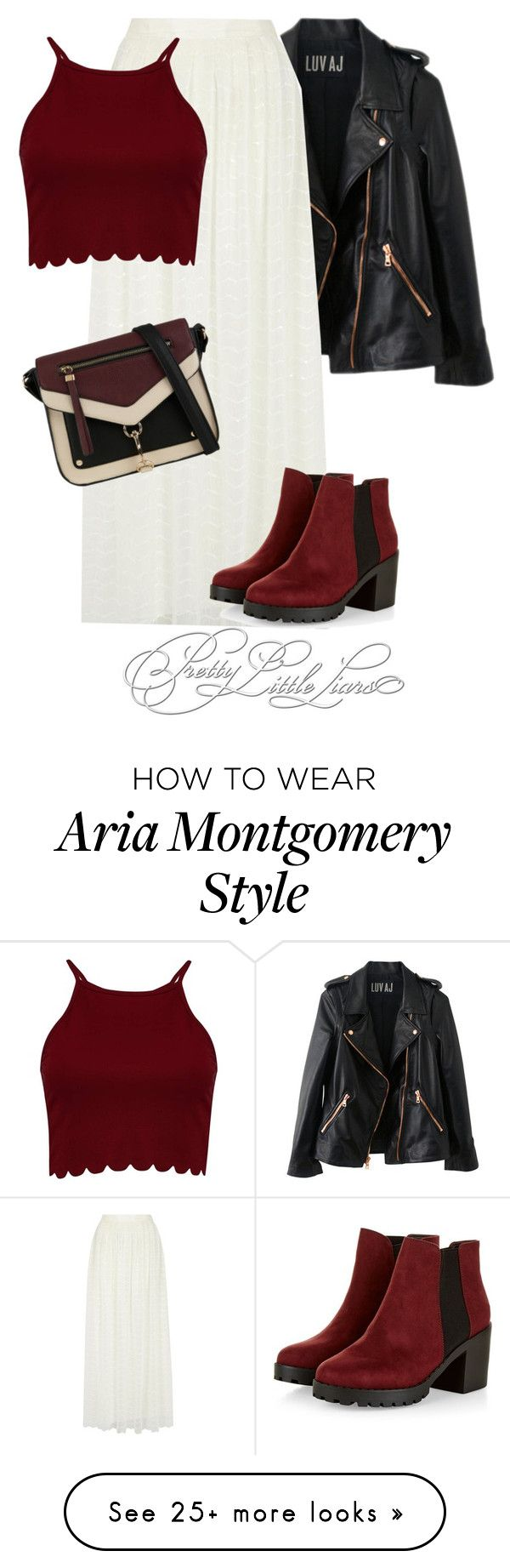 """Aria Montgomery inspired outfit"" by vane-abreu on Polyvore featuring Rosegold, Alice + Olivia, Boohoo and Call it SPRING"