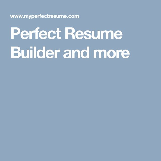 Best 25+ Resume builder ideas on Pinterest Resume builder - livecareer my perfect resume