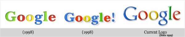Google evolved quickly, cycling through three logos during 1998 and '99.