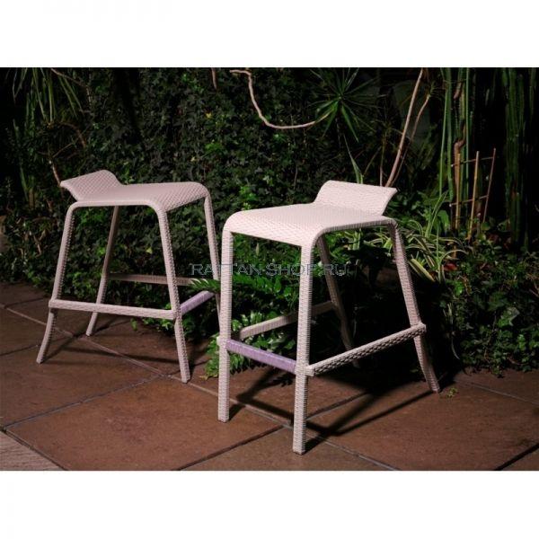 Барный стул Жасмин, ротанг белый