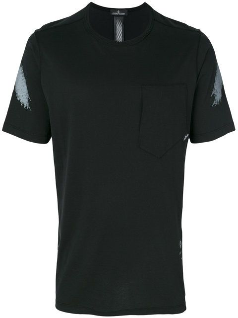 Stone Island Shadow Project paint stripe detail T-shirt