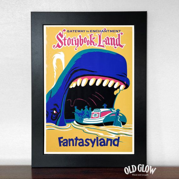 Fantasyland 'Storybook Land'  Vintage Disneyland by OldGlowGifts
