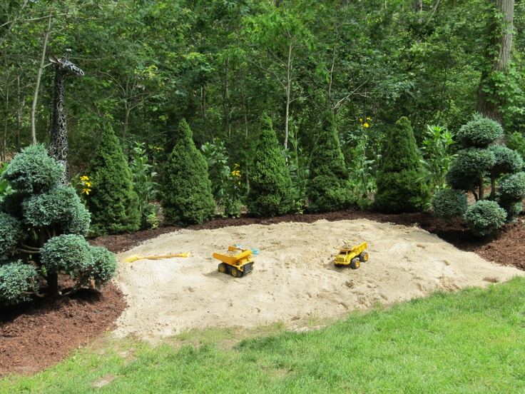 Backyard Sandbox : Our backyard sandbox  Outdoor Stuff  Pinterest