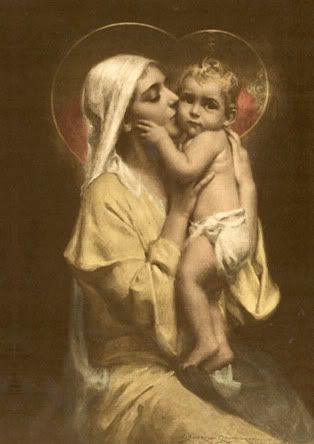 beautiful photo of Mary and baby Jesus--Baby Jesus looks just like Gil